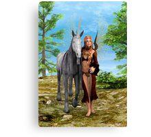 Fairy and Unicorn Canvas Print
