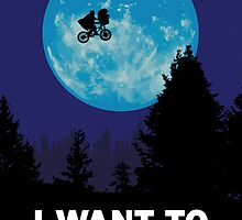 The X-Files: I Want to Believe Poster E.T Extra Terrestrial Spoof by Creative Spectator