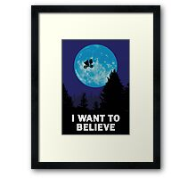 The X-Files: I Want to Believe Poster E.T Extra Terrestrial Spoof Framed Print