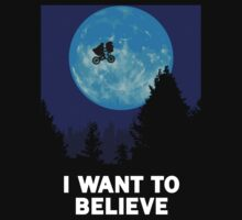 The X-Files: I Want to Believe Poster E.T Extra Terrestrial Spoof T-Shirt