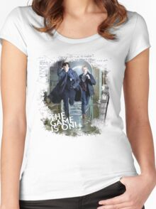 Sherlock: The Game is On! Women's Fitted Scoop T-Shirt