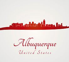 Albuquerque skyline in red by paulrommer