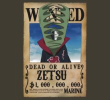 Wanted Poster Zetsu by BadrHoussni