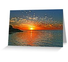 Exploding Sunset Greeting Card