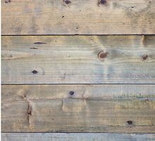 Horizontal worn plank wall by Kristian Tuhkanen