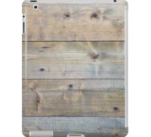 Horizontal worn plank wall iPad Case/Skin