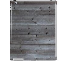 Old horizontal black plank wall iPad Case/Skin