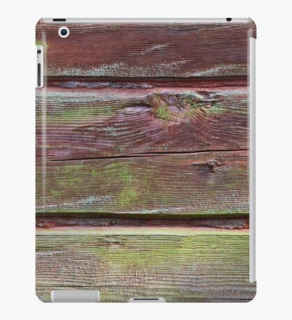Horizontal timber wall with green mold iPad Case/Skin