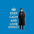 KEEP CALM AND LOVE BENEDICT - NAVY BLUE by jessvasconcelos
