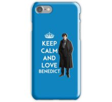 KEEP CALM AND LOVE BENEDICT - NAVY BLUE iPhone Case/Skin