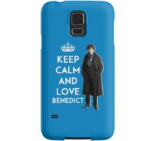 KEEP CALM AND LOVE BENEDICT - NAVY BLUE Samsung Galaxy Case/Skin