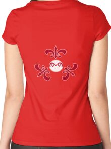 Mr.Blob crest (noob) Women's Fitted Scoop T-Shirt