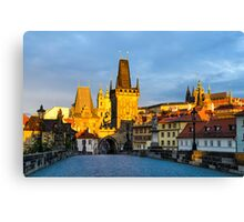 Prague in Morning Light Canvas Print