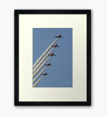 Red Arrows at RAF Scampton Framed Print