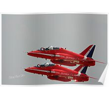 Red Arrows at Waddington Airshow Poster
