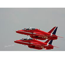 Red Arrows at Waddington Airshow Photographic Print