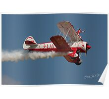 Team Guinot (Breitling Wingwalkers) at Waddington Airshow Poster