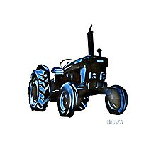 little black tractor Photographic Print