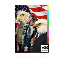 american super powers  Art Print