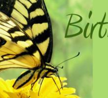 Happy Birthday - Eastern Tiger Swallowtail Butterfly Sticker