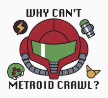 Why can't Metroid crawl? sticker by davidjonesart