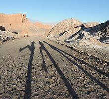 Shadows in the desert by Helen Morton