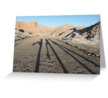 Shadows in the desert Greeting Card