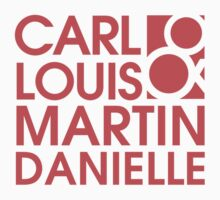 Carl Louis & Martin Danielle (CLMD) - Coral red by upnorthmerch