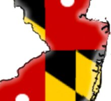 Maryland and New Jersey Sticker