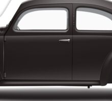 1938 KdF Wagen - Side Profile View Sticker
