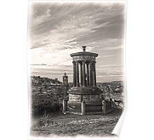 A Portrait of Edinburgh Sepia Poster