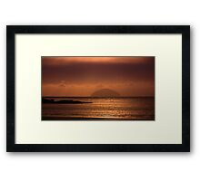 sunset on ailsa Framed Print
