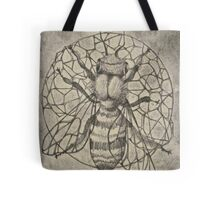 Bee etching  Tote Bag