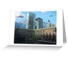 Futuristic City Greeting Card