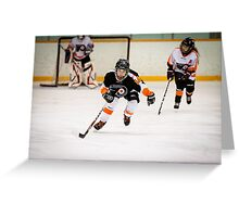 Hockey Shots Greeting Card