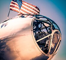 Sunset over a B29 by Chris L Smith