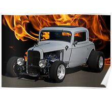 1932 Ford 'Heat of the Moment' Coupe Poster
