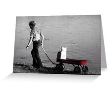 The Red Wagon Greeting Card