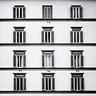 Facade of a Building in Florence ( Firenze ) Black and White by saaton