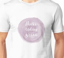 Abstract Pale Purple Watercolor Design Unisex T-Shirt