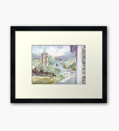 Sketch countryside plein air Framed Print