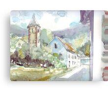 Sketch countryside plein air Canvas Print