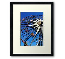 Round and round and swing Framed Print