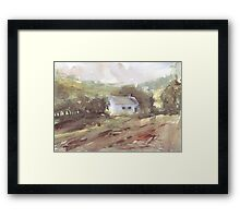 Countryside house on the Camino Framed Print