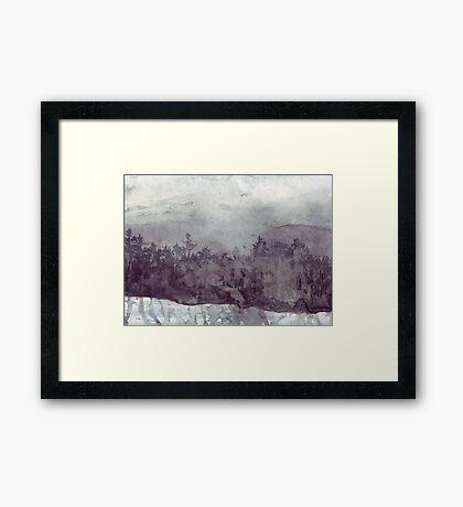 Plein Air Snow Framed Print