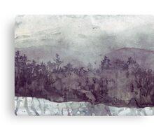 Plein Air Snow Canvas Print