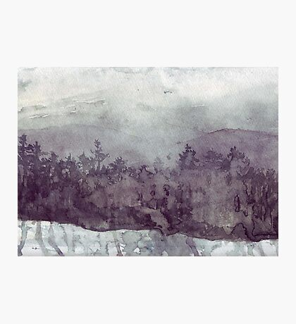 Plein Air Snow Photographic Print