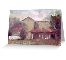 Church on country side near Pamplona Greeting Card