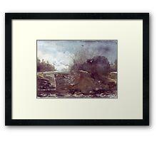 Watercolour Countryside Spain Framed Print