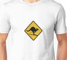Skiing kangaroo Unisex T-Shirt